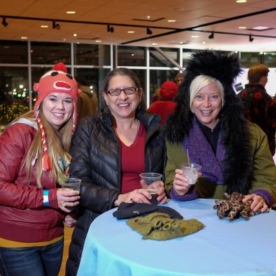 (L-R) Bailey Peterson, Teresa Vaughn and Jodi Reese listen to KRCL all the time. Vaughn's donations to KRCL earned her a backstage pass to events such as the Polar Jubilee. Photo: John Barkiple