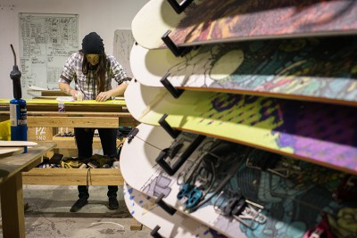 Pallas Snowboards Production Manager Laurel Nelson taps into her engineering background to craft backcountry-tough split boards.