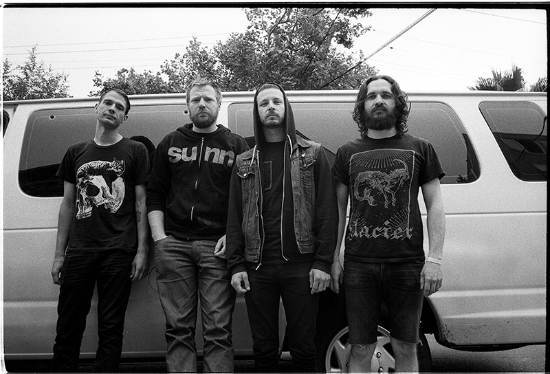 (L–R) Sam Richards, Mike Mason, Anthony Lucero and Casey Hansen of Cult Leader have nearly a combined half century of touring experience between them.