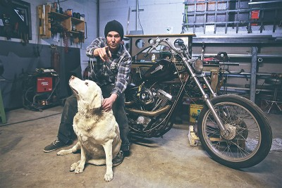 Motorcycle metalhead Simon Larson is passionate about the metal you're riding on.