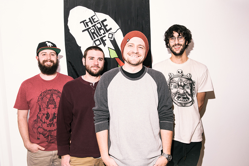 (L–R) Tyler Hartman (drums), Kyle McCann (bass), Drew Zayach (vocals) and Raphael Khan (guitar) will have you vibing to the Tribe of I at Localized.