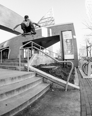 Forrest Huber – Ollie Over the Rails – SLC, Utah.