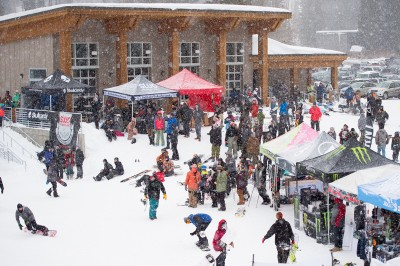 The base of the course bustled with activity during the Men's and Women's Open divisions. Photo: Niels Jensen