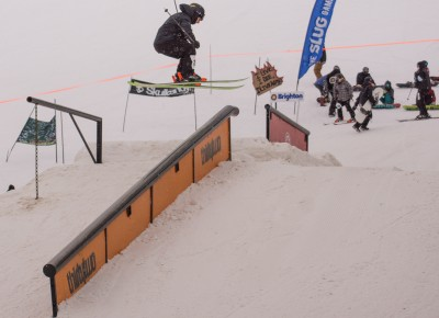 Bijan Sherkat, 17 & Under Men's Ski, 3rd Place. 270 railside 270 out. Photo: Chris Kiernan
