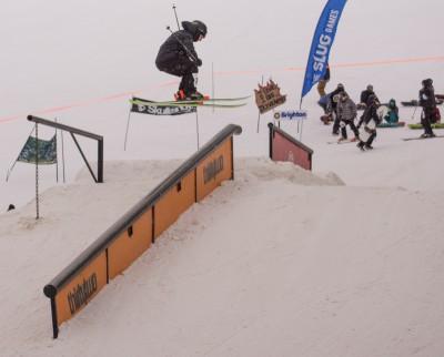 Bijan Sherkat, 17 & Under Men's Ski, 3rd Place. 270 railside 270 out. Photo: Chris Kiernan