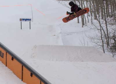 Keb Heasley, 17 & Under Men's Snowboard, 1st Place. Frontside 360. Photo: Chris Kiernan