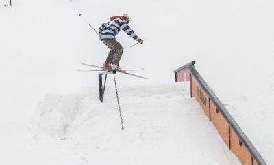 Chase Mohrman, Open Men's Ski, gap to backside boardslide. Photo: Cezaryna Dzawala
