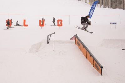 Rory Walsh, Open Men's Ski, 1st Place. Lipslide 270 out. Photo: Chris Kiernan