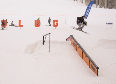 Rory Walsh, Open Men's Ski, 1st Place. Lipslide 270 out. Photo: Chris Kiernan