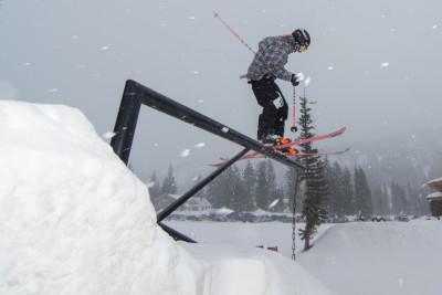 Nate McCartny, 17 & Under Men's Ski, 1st Place. Railslide. Photo: Chris Kiernan