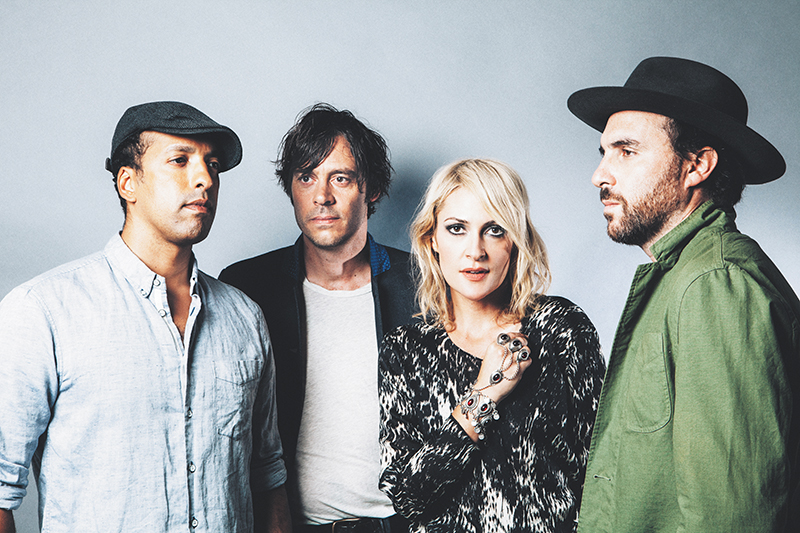 (L–R) Joshua Winstead, Joules Scott-Key, Emily Haines and Jimmy Shaw of Metric are iconoclasts within the music industry.