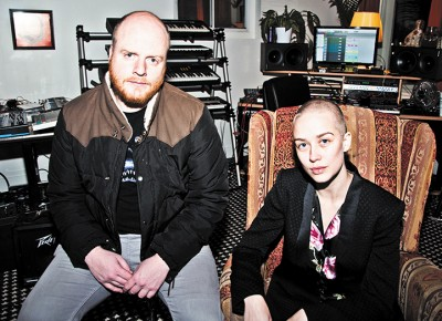 (L–R) Eric Robertson and Catherine Leavy imbue New Shack with glossy synthpop. Photo: Gilbert Cisneros