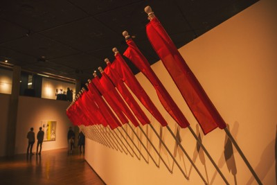 The communists have invaded UMOCA and planted their flags as evidence of their presence. Photo: talynsherer.com