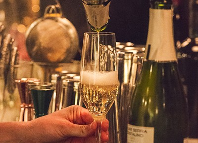 When the champagne begins to flow, you know a celebration is amidst. Photo: Talyn Sherer