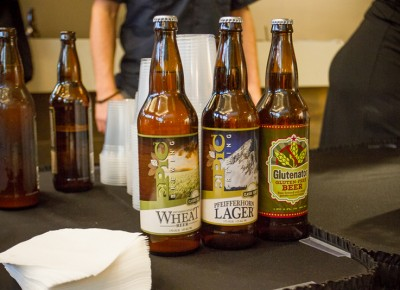 Epic Brewery's finest ales patiently await their drinking companions on the table. Photo: Talyn Sherer