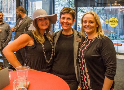(L-R) Cammie Cable, Le Croissant owner Kelly Lake and Kandi Phillips talk shop after I snap a quick pic. Photo: Talyn Sherer