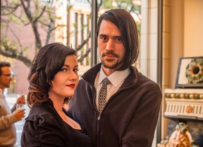 Lauren and Trent dress in their Thursday best for the most talked-about show of the week. Photo: Talyn Sherer