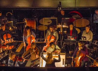 The composer prepares the symphony for the dance. Photo: Talyn Sherer
