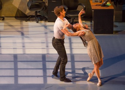 She gracefully falls into his arms as he sweeps her off her feet. Photo: Talyn Sherer