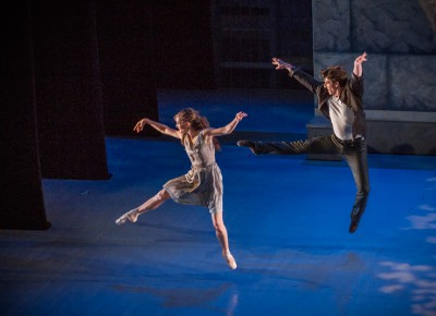 Our dancers leap with excitement as they proceed to the next scene. Photo: Talyn Sherer