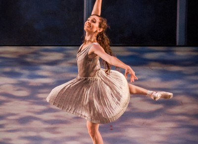 She balances delicately on the points of her toes as her pirouette begins. Photo: Talyn Sherer
