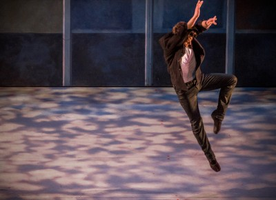 With more joy than he could imagine, the dancer jumps in the air, barely able to contain himself. Photo: Talyn Sherer