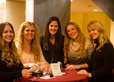 (L-R) Kelsey Ellis, Lisa Harris, Nicole Dean, Aspen Perry and Cara Robertson thoroughly enjoyed the Thursday night performance. Photo: Talyn Sherer