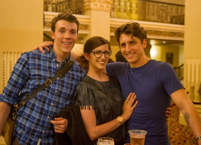 (L-R) Tyler Gum, Loren Threet and Christopher Ruud came out to enjoy a beer with us post-performance on Thursday night. Photo: Talyn Sherer