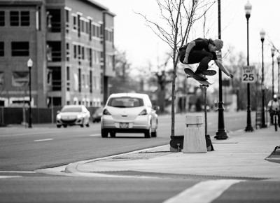 "Hardflip. ""I'm dying to go on a skate trip,"" says Harris. ""I don't have any plans, but I'm for sure going to make some. I'm down to go anywhere."""
