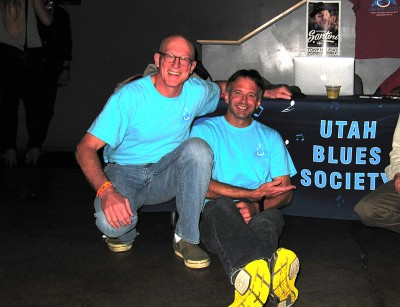 (L–R) Utah Blues Festival Organizers Tripp Hopkins and Brian Kelm are excited for a second year of the festival.