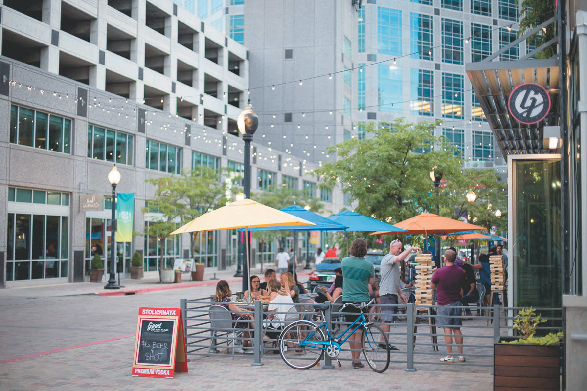 Good Grammar functions as an SLC-nightlife social hub on Gallivan Avenue, boasting craft cocktails and creatively cooked food.