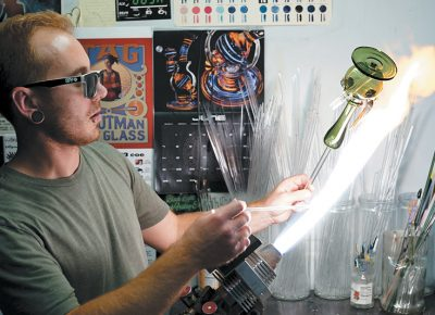 Evan Ballance creates a water pipe at Borosyndicate Productions.
