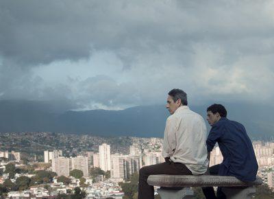 (L–R) Alfredo Castro and Luis Silva in From Afar.