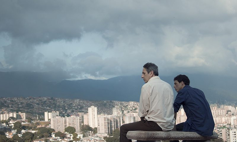 (L–R) Alfredo Castro and Luis Silva in From Afar.