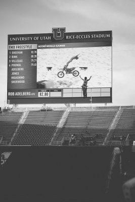 Rob Adelberg sending a cliffhanger over the 75 foot gap. Photo: Matthew Windsor