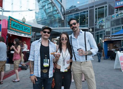 Kirk Dath, Sarah Anne DeGraw, and Michael Wright stayed snazzy. Photo: JoSavagePhotography.com