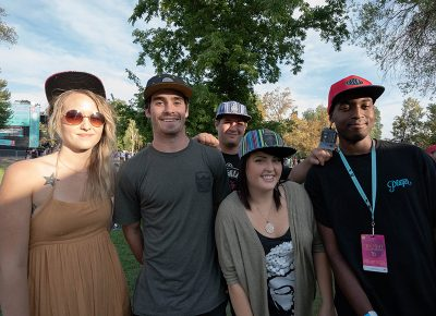 The Discrete team had some ladies stoked on their fresh hats. Photo: JoSavagePhotography.com