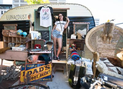 Brooke Campos had a sweet setup for her vintage eclectic shop, Luna Dust. Photo: JoSavagePhotography.com
