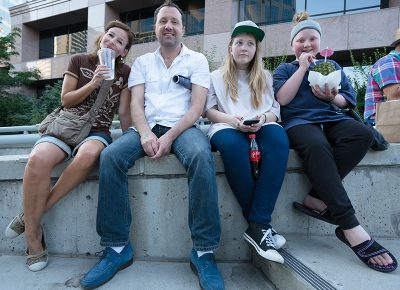 This family crew enjoyed some food and beverages from local food vendors. Photo: JoSavagePhotography.com