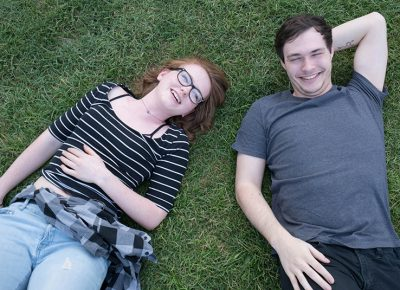 Evangaline Johnson and Collin Martinez laughed and lounged in the sweet Utah grass. Photo: JoSavagePhotography.com