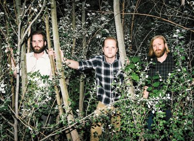 (L–R) Brandon Kohler, Drew Harris and Camron Sackett interlace Forest Feathers' subtle yet complex soundscapes with prog-, math- and post-rock underpinnings. Photo: Russel Daniels