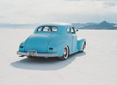 A 1941 Chevy Master Deluxe coupe was among the many classic and vintage vehicles driving around the outskirts. In addition to speed trials, Speed Week has become a celebration of all things automotive.