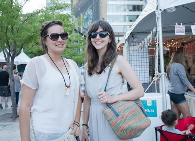 Yasmine Jarvis and Jane Stringham were shopping around at the fest. Photo: JoSavagePhotography.com