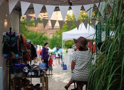 A vendor looks on as DIY Fest continues on Friday night. Photo: @snowlenda
