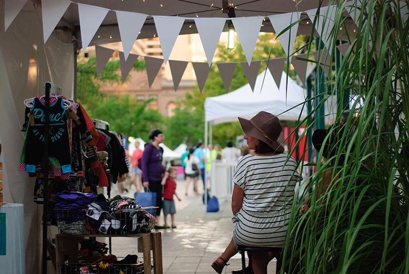 A vendor looks on as DIY Fest continues on Friday night. Photo: @snowlenda