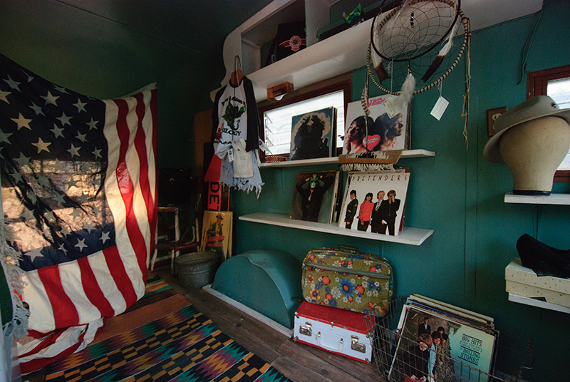 The scene inside the Luna Dust Vintage trailer. Photo: @snowlenda