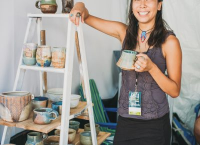 Michell Wang of Tangible Soul Pottery was happy to show off her handmade pottery. Photo: @clancycoop