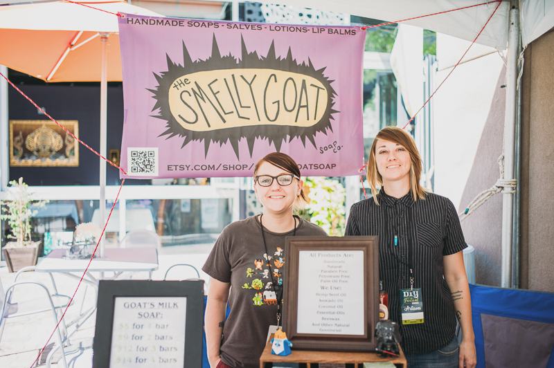(L–R) Caitlin and Allison Wynn-Hutto of Smelly Goat had a booth that actually smelled very nicely due to their handmade soap. Photo: @clancycoop
