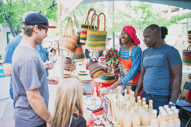 Many unique foods were being sold by Mama Africa, both in the vendor section and with the food trucks. Photo: @clancycoop
