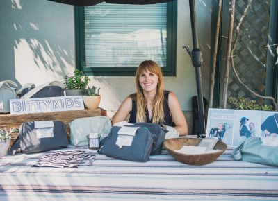 Holly Hacket of Bitty Kids was selling cute accessories for parents. Photo: @clancycoop